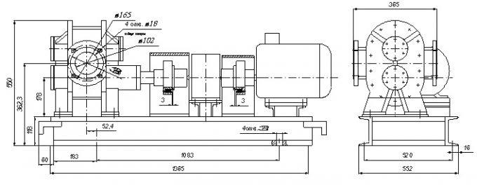 Чертеж насос шестеренный НШ-30 (П6-ППВ)