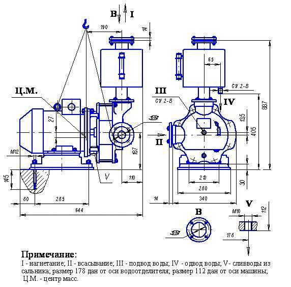КОМПРЕССОР ВОДОКОЛЬЦЕВОЙ ВК-1,5М1
